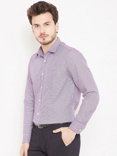 Self-Checked Formal Shirt by Blackberry