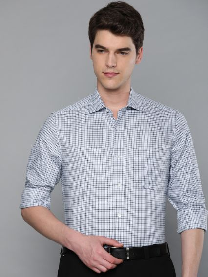 Checked Formal Shirt by Louis Philippe
