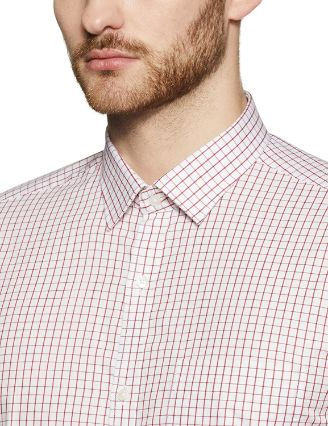 checked slim fit formal shirt by Park Avenue