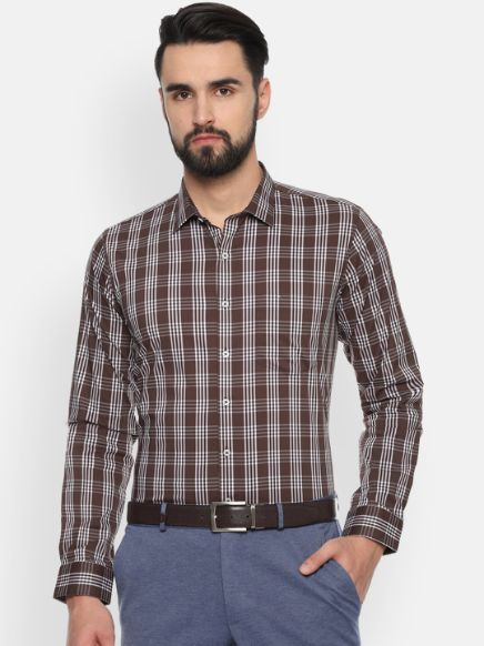 Checked Formal Shirt by Van Heusen