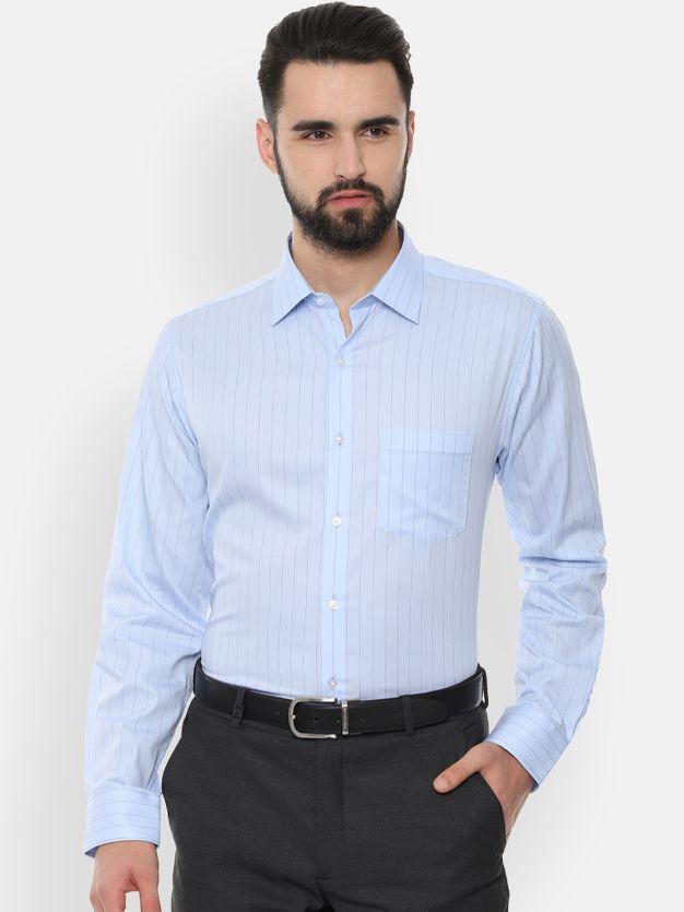 Striped Men Formal Shirt by Van Heusen