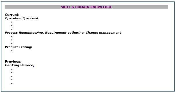 Skills & Domain Knowledge