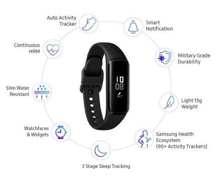 Samsung Galaxy low budget fitness tracker band